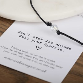 'Don't Let Anyone…' Charm Wish Bracelet
