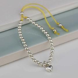 Personalised Children's Silver Friendship Bracelet Yellow