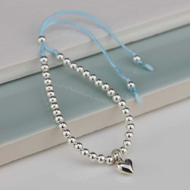 Children's Silver Friendship Bracelet