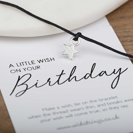 Little Wish 'Birthday' Star Wish Bracelet