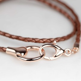 Rose Gold Snaffle Wrap Bracelet
