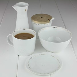 Porcelain Sugar Pot With Spoon And Lid