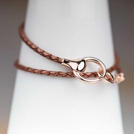 Rose Gold Snaffle Wrap Bracelet