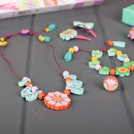 Wooden Jewellery Sets Flowers of Paradise