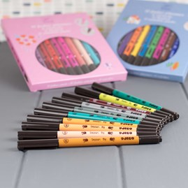Set of 10 Double Tipped Felt Brushes and Pens
