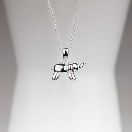 Personalised Silver Balloon Elephant Pendant