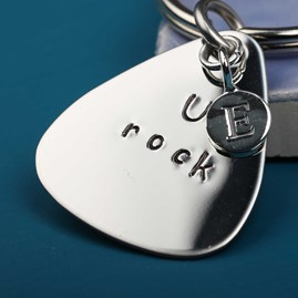 'U Rock' Plectrum Keyring