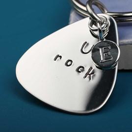 'U Rock' Plectrum Keyring