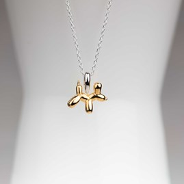 Personalised Gold Balloon Dog Pendant