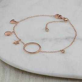 Bracelet With Hoop And Small Charms