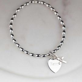 Personalised Children's Christening Cross Bracelet