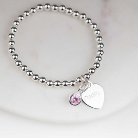 Personalised Children's Birthstone Bead Bracelet