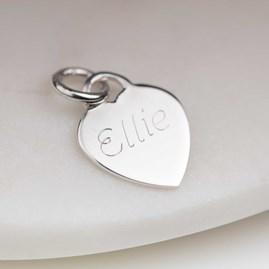 Personalised Children's Pearl Heart Charm Bracelet