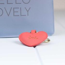 Katie Loxton 'Love' Deep Pink Heart Keyring