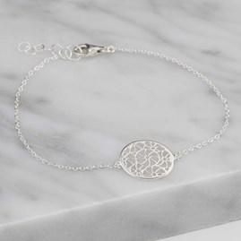 Silver Circular Filigree Bracelet