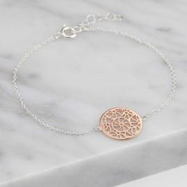 Rose Gold Circular Filigree Bracelet