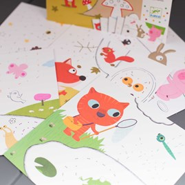 Dot to Dot Colouring With Animals