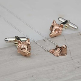 Gold, Silver Or Rose Gold Fox Pendant