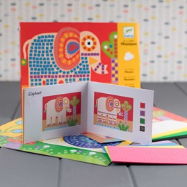 Colourful Mosaic Kits Elephant And Snail