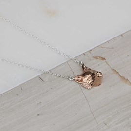 Rose Gold Fox Pendant