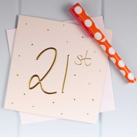 Katie Loxton Embossed '21st' Birthday Card