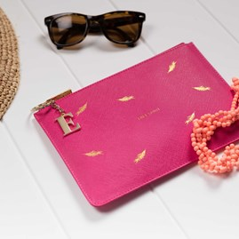 Katie Loxton Personalised 'Free Spirit' Pink Perfect Pouch