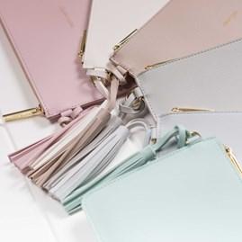 Katie Loxton Personalised 'Oh So Chic' Keepsake Clutch In Pale Grey