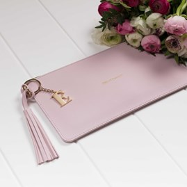 Katie Loxton Personalised 'Pretty Perfect' Keepsake Clutch In Pink