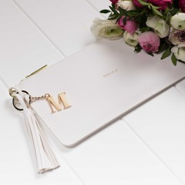Katie Loxton Personalised 'Ooh La La' Keepsake Clutch In White