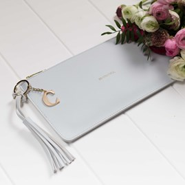 Personalised 'Be You Tiful' Clutch In Powder Blue