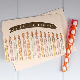 'Happy Birthday Candles' Birthday Card