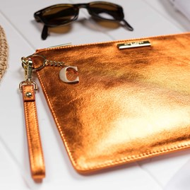 Personalised Luxe Sparkly Copper Evening Clutch Bag