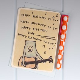 'Singing Bear' Birthday Card
