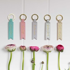 'Shine Bright' Soft Pink Keyring