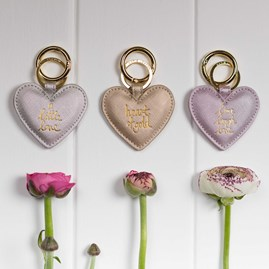 Katie Loxton 'Live, Laugh, Love' Lilac Keyring