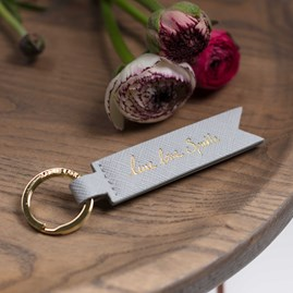 Katie Loxton 'Live, Love, Sparkle' Silver Keyring