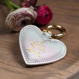 Katie Loxton 'A Little Love' Silver Keyring