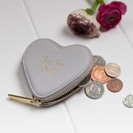 'Live, Love, Sparkle' Silver Coin Purse