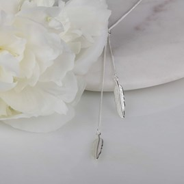 Delicate Falling Leaf Drop Necklace
