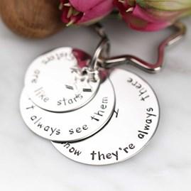 Personalised 'Sisters Are Like Stars...' Keyring