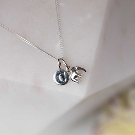 Personalised Solid Silver Elephant Pendant