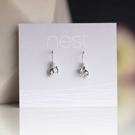 Solid Silver Elephant Earrings