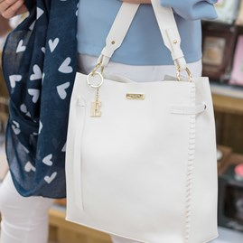 Personalised Florrie Day Bag In White