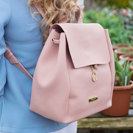 Katie Loxton Personalised Bea Back Pack In Blush Pink