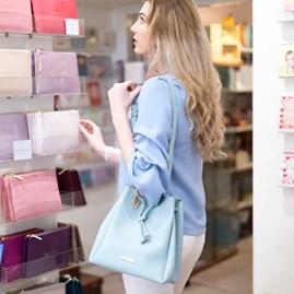 Katie Loxton Personalised Chloe Bucket Bag In Aqua