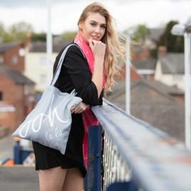 Katie Loxton 'Ooh La La' Canvas Bag In Light Grey
