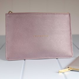 Katie Loxton Personalised 'Live Love Sparkle' Metallic Pink Pouch