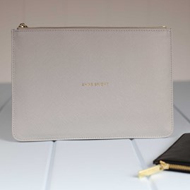 Katie Loxton Personalised 'Shine Bright' Pale Grey Perfect Pouch
