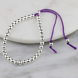 Silver Friendship Bracelets Purple