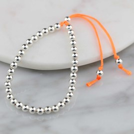 Silver Friendship Bracelets Orange